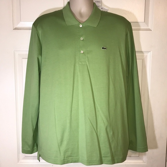 64fa3203005ac7 Lacoste Shirts | Mens Green Long Sleeve Polo Shirt | Poshmark